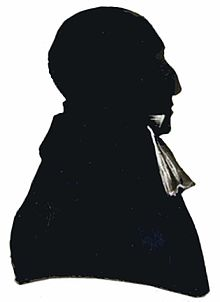 Geknipt portret JH Pareau en profil, Waalse Kerk Urecht, begin 19e eeuw, exacte datum onbekend