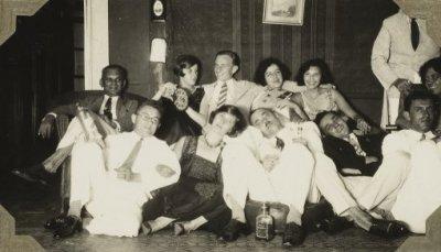 Afscheidsfeestje Flore en Han (Pareau) Dumont, Benkoelen, mei 1932