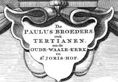 Detail, soort schildje, wijzigingen in naamgeving en wijzigingen daarvan, Waalse kerk in Amsterdam
