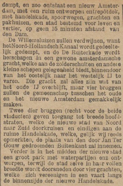 Vervolg mogelijke demping van het IJ. De Tijd 30 november 1895