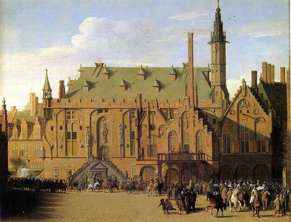 Schilderij stadhuis Haarlem door Saenredam