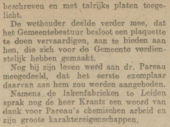 Deel 2 artikel begrafenis AH Pareau, krant 30 april 1918