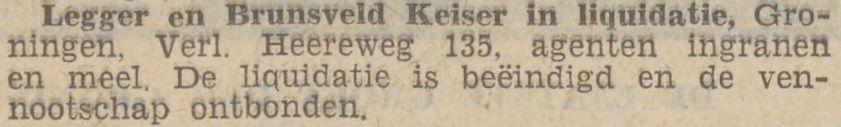 Graanhandel van Albert in liquidatie, krant 13 juni 1931