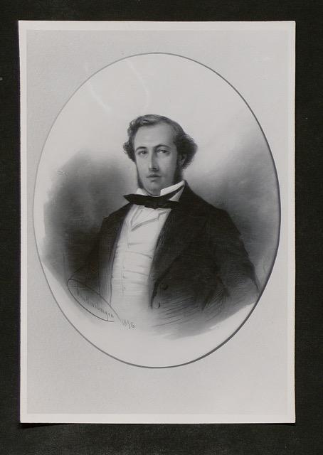 Jean Francois Riesz, echtgenoot van Emilie le Roux. Foto van Daguerrotypie, 1856, Batavia, Nederlands Indië