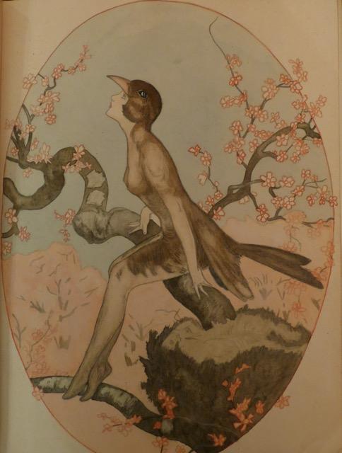 'Vogelvrouw', tekening van Puck Drognat Doeve